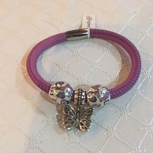 Brighton Purple Woodstock with Damascus Beads